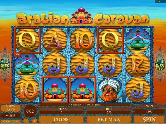 Arabian caravan slot machine online tickets tokens